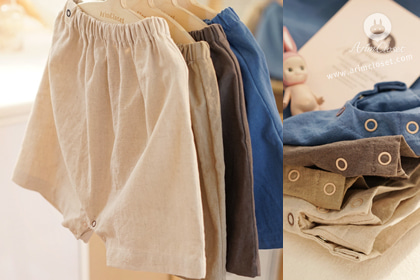 요 귀여운 쪼꼬미 잡아라 ! - 4 colors cotton linen baby cute pants