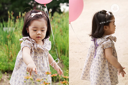[Good bye sale 20%][2차제작] 그녀보고 콩닥거리는 내맘 어째 ?! - lovely pink in violet flower cotton baby dress