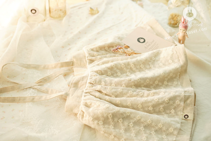 [new10%↓ 07.09, 11am까지] 쪼꼬미랑 손잡고 놀이공원 갈까 ? - lovely lace linen cotton baby overalls skirt